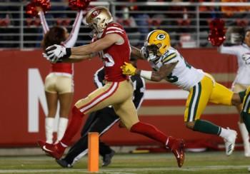 Green Bay Packers versus San Francisco 49ers
